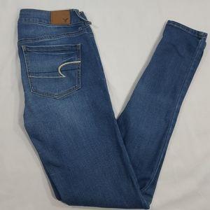 American Eagle Medium Whisker Denim Jegging Pants